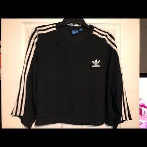 Black Adidas Sheer Material Crop Top